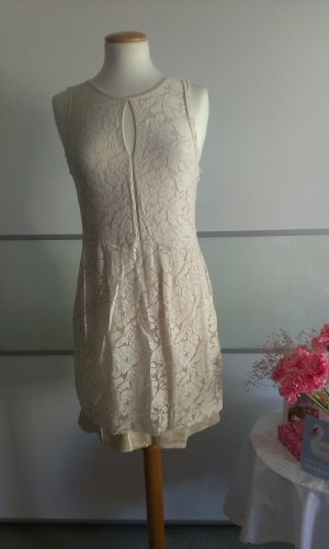 Warehouse Lace Dress cream