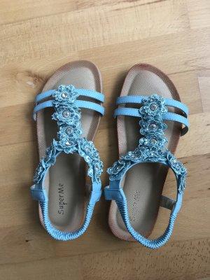 Sandalo comodo azzurro