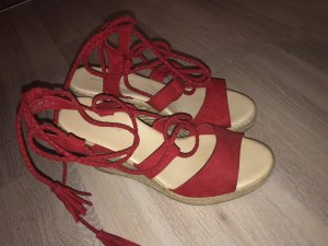 Lace-up Pumps red