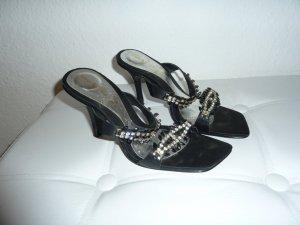 Sandalen met bandjes zwart Imitatie leer