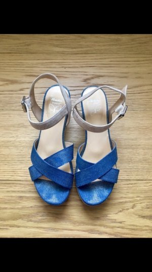 Bata Platform High-Heeled Sandal white-blue