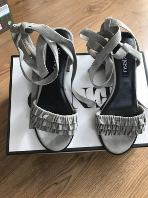 Senso Roman Sandals silver-colored leather
