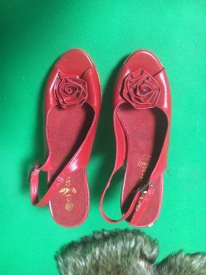 Sandales confort rouge