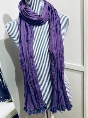 Sommer-Schal mit kurzen Fransen in violett