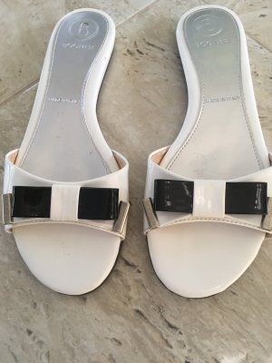 Bogner Beach Sandals black-white leather