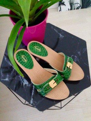 Scholl High-Heeled Sandals dark green-nude
