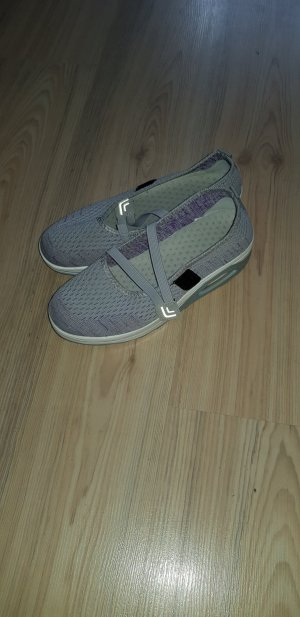 Strappy Ballerinas light grey