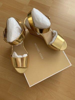 Michael Kors Heel Pantolettes gold-colored