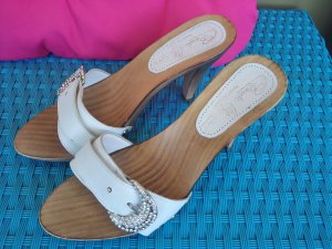 Sommer Schuh weiss glitzer