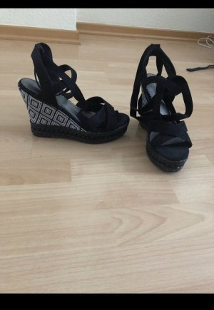 Deichmann Wedge Sandals multicolored