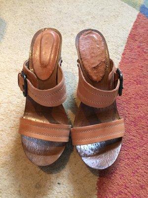 100% Fashion Plateauzool pumps bruin