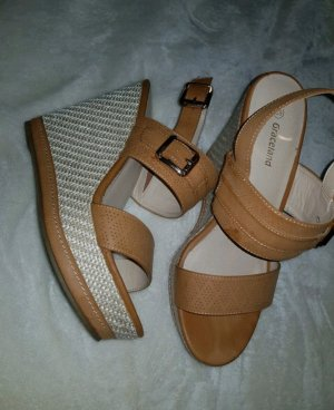 Deichmann Wedge Sandals cream