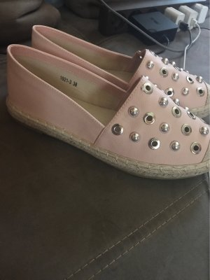 0039 Italy Slip-on Shoes silver-colored-pink