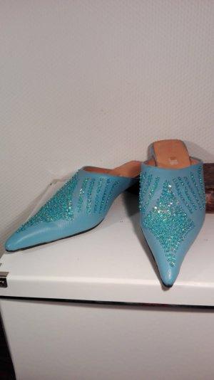 Sommer Schuhe Leder türkis