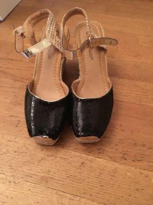 Sommer Schuhe mit Pailletten
