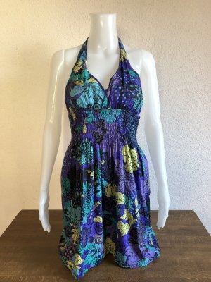 Sommer Schulterfrei Kleid Blumen zum schnüren
