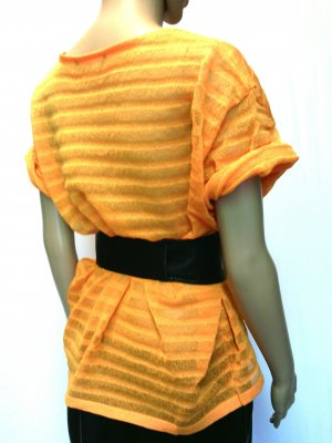 Sommer-scuba Blusen-Shirt in modernen Orange