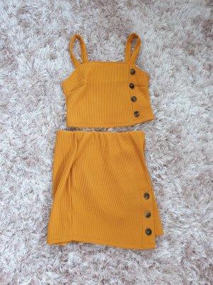 Midi Dress gold orange