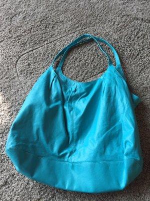 Hennes Collection by H&M Borsa shopper blu acciaio Pelle