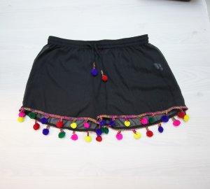 Sommer Shorts Beach Pants Pom Pom Bommel bunt