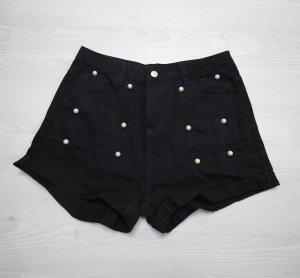 Pantalon court noir-blanc