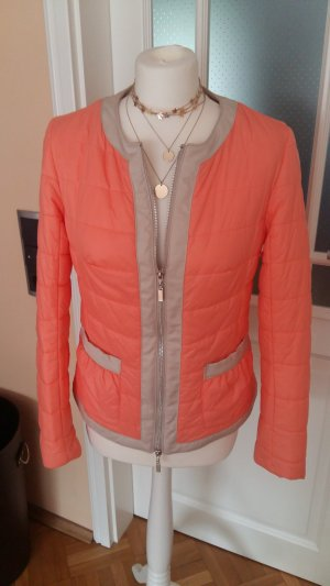 BC Quilted Jacket oatmeal-orange