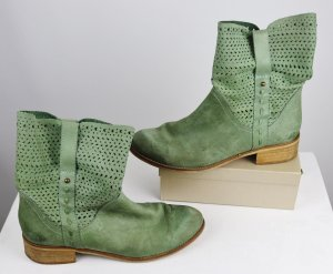 Tamaris Slip-on Booties lime-green-grass green leather