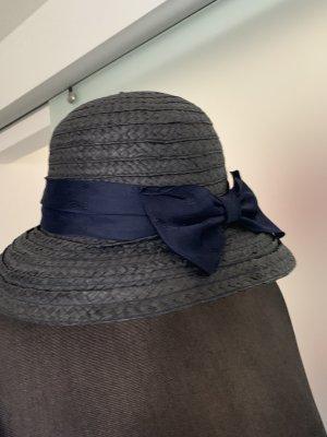Chapeau de soleil gris anthracite-bleu foncé