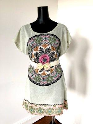 Yumi Vestido estilo camisa multicolor