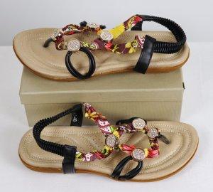 Sandalias con talón descubierto multicolor Imitación de cuero