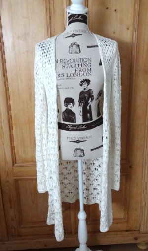 Benetton Knitted Coat natural white mixture fibre