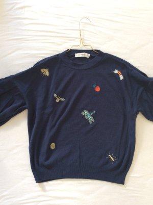 Mango Short Sleeve Sweater multicolored