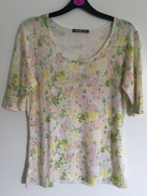 Sommer Stricktop von Esisto, florales Muster Gr. S