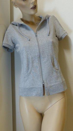 Sweat Jacket light grey-grey mixture fibre