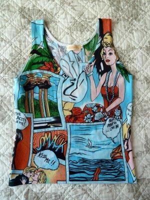 Sommer T-Shirt, Comics Muster , Gr.S