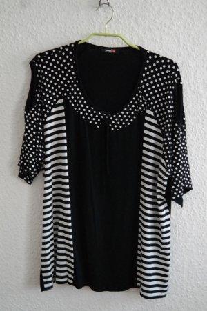 Sommer-T-Shirt in schwarz/weiß von Jargo