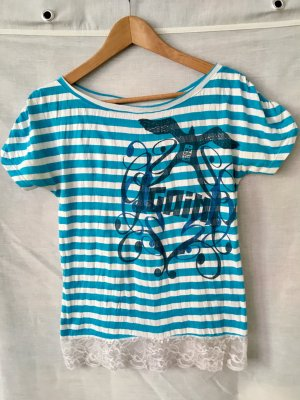Sommer T-Shirt mit Spitzenrand