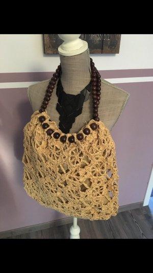 Sommer Tasche mit Perlenhenkel