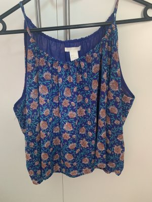 H&M Spaghetti Strap Top blue-orange