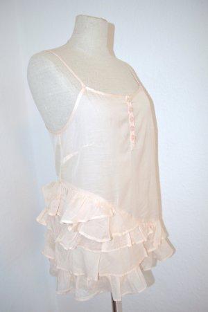 Sommer Top Bluse Nude Viscose Cotton Gr. 34 Neu