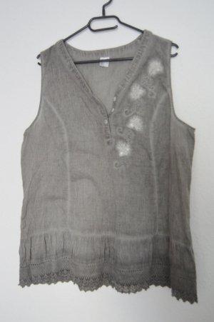 Sommer Top grau mit waschung gr.44