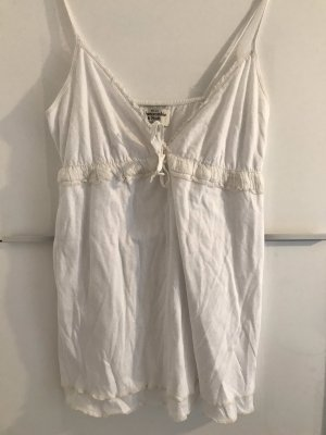 Abercrombie & Fitch Top linea A bianco