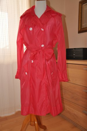 Sommer Trenchcoat Regenmantel ESCADA SPORT rot transparent Gr 40 NEU