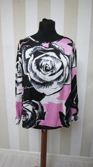 Tunique noir-rose polyester