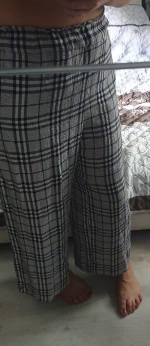 H&M Pantalone a vita alta nero-grigio chiaro