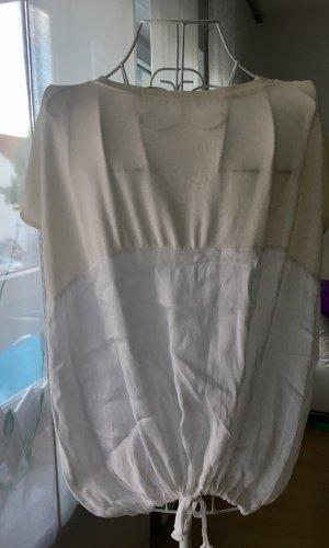Sommer Zara Shirt in beige weiß