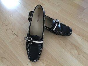 Geox Patent Leather Ballerinas black leather