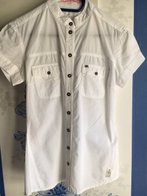 QS by s.Oliver Blouse-chemisier blanc coton