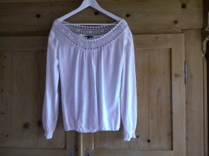 Comma Long Sleeve Blouse white cotton