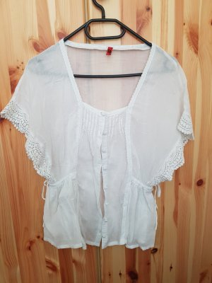 QS by s.Oliver Linen Blouse white